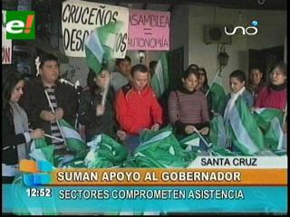 Rubén Costas suma apoyo de sectores, masistas minimizan la concentración