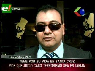 Teme por su vida: Fiscal Soza pide que el juicio oral por el caso terrorismo I se traslade a Tarija