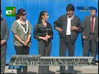 Gabriela Montaño asume interinamente la presidencia de Bolivia
