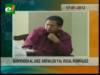 Concejo de la Judicatura suspende temporalmente al juez Arévalo y al vocal Rodríguez