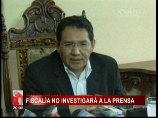 Fiscal General aclara que no investigarán a medios que mostraron video de presunta violación