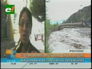 Lluvias afectan a 3.000 familias en Potosí