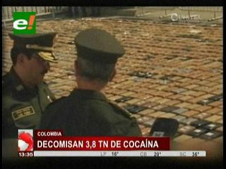 Colombia: Incautan 3,8 toneladas de cocaína que tenía como destino México