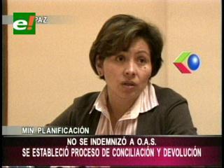 """Ministra de Planificación: """"Bolivia concilió cuentas con OAS, no hubo ninguna indemnización"""""""