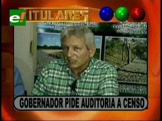 Gobernador Rubén Costas pide una auditoría al censo 2012