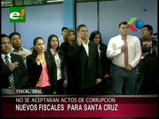 Posesionaron a nuevos fiscales en Santa Cruz