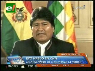 Evo responde a Piñera y dice que Chile tiene una deuda continental
