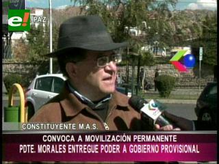 """Raúl Prada: """"Evo tiene que entregar el poder a un Gobierno provisional"""""""
