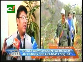 Quince municipios de Chuquisaca en emergencia por la sequía y las heladas
