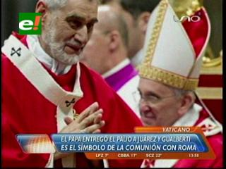 Arzobispos Gualberti y Juárez recibieron el Palio del Papa Francisco