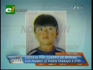 Cuerpo de Bryan Yanarico Capcha llegó a La Paz