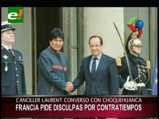 Francia pide disculpas por 'contratiempo' y dice que nunca hubo intención de negar tránsito a Morales