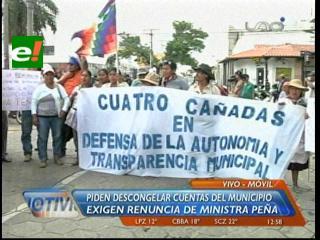 Marcha de Cuatro Cañadas apunta a la Ministra de Autonomías