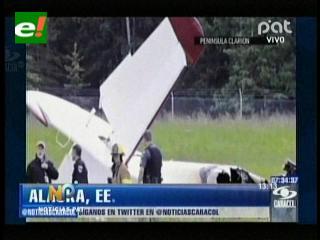 Mueren 10 personas luego de accidente de avión en Alaska