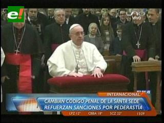El Papa Francisco reforma el código penal del Vaticano y refuerza sanciones contra pederastia