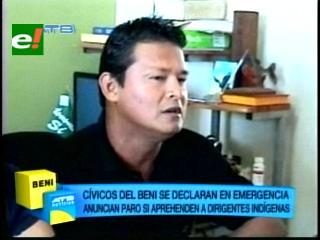 Cívicos de Beni se declaran en emergencia en apoyo a indígenas