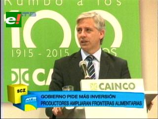 García Linera pide más inversión para liberar exportaciones