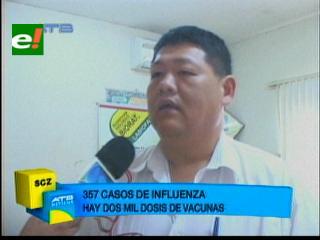 Santa Cruz registra 357 casos de Influenza