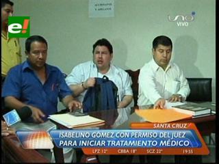 Isabelino Gómez con permiso del juez para iniciar tratamiento médico
