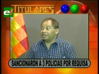 Titulares: Ministro de Gobierno asegura que sancionaron a tres policías por la requisa al avión de Amorím