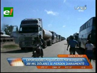 Bloqueo en San Julián genera pérdidas de 300 mil dólares por día