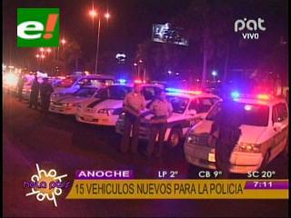 Gobierno entrega 15 vehículos nuevos a la Policía de Santa Cruz