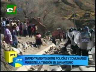 Policía intervino el bloqueo en Cantumarca
