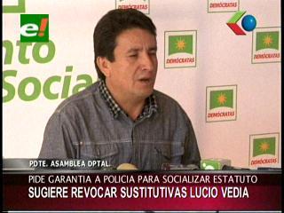 Piden revocar las medidas sustitutivas del asambleísta del MAS Lucio Vedia
