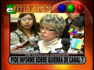 Titulares: Senadora Pinckert pide un informe sobre la quiebra del Canal Siete