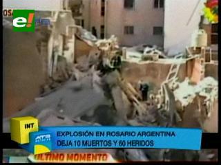 Buscan desaparecidos tras explosión que dejó al menos 10 muertos en Argentina