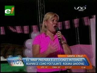 El MNR prepara elecciones internas en Santa Cruz, reaparece la ex diputada Roxana Sandoval