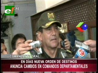Comandante Nacional de la Policía anuncia cambios en los comandos departamentales