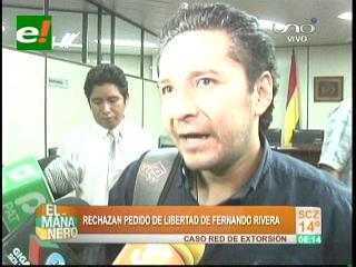 Caso extorsión: Fernando Rivera seguirá en prisión