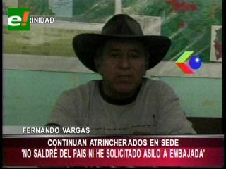 """Fernando Vargas: """"No cometimos ningún delito para pedir asilo político"""""""