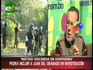 Diputados del MAS pedirán al Fiscal General que investigue a Juan del Granado por el caso Chaparina