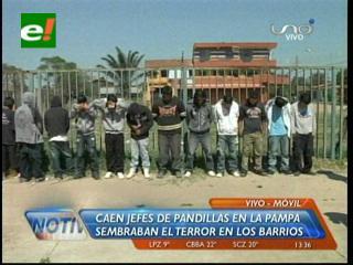 Detienen a los cabecillas de una pandilla, sembraban temor en la Pampa de La Isla