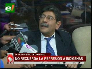 Marcos Farfán no recuerda la represión a los indígenas