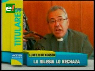 Titulares: Iglesia niega la información sobre la excomunión de 4 ministros