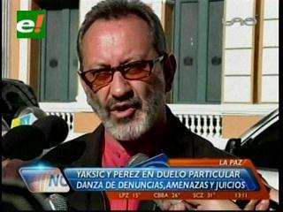 Yaksic acepta auditoría planteada por Romero y exige a Pérez disculparse