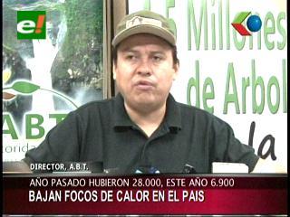 ABT: Hay 6.900 focos de calor en Bolivia; Cámara Forestal no descarta pérdidas
