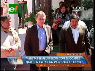 Masistas se reunieron con el Comité Cívico Cruceño, quieren evitar las movilizaciones por el censo