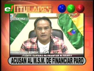 Titulares: MAS acusa al MSM de financiar paro en La Paz en rechazo a los resultados del censo