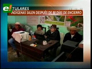 Titulares: Indígenas Nuni, Chávez y Vargas salen de su encierro después de 80 días