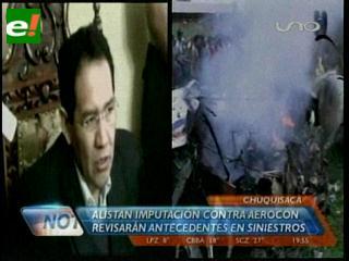 Fiscalía General alista imputación contra la empresa Aerocon