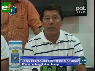 "Erwin ""Happy"" Peredo asume como presidente titular del club Blooming"