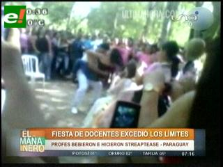 Escándalo en Paraguay: Jornada docente terminó en fiesta de 'strippers'