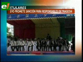 Titulares: Evo Morales promete una sanción drástica para los responsables de la tragedia aérea