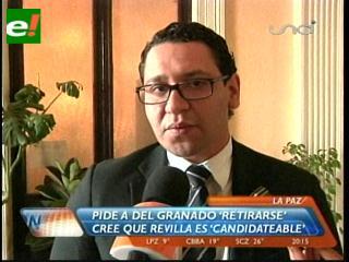 """El diputado Monasterio cree que Juan Del Granado debe dar """"un paso al costado"""" en la política"""