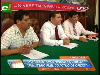 Rector de la Uagrm asegura que no se presentó ninguna querella contra los docentes
