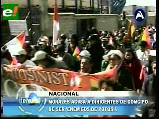 Evo asegura que Comcipo es el «primer enemigo de Potosí»
